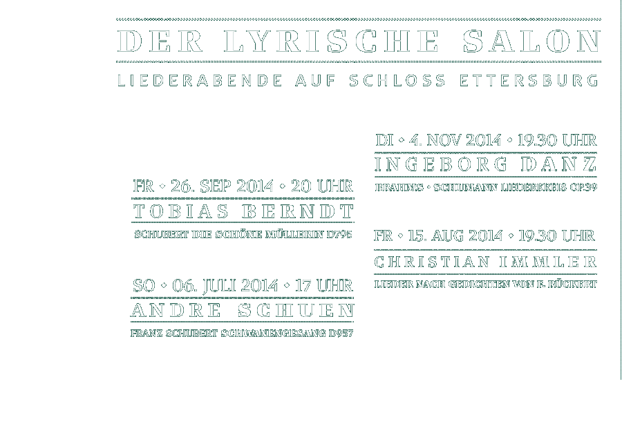 Der Lyrische Salon Weimar